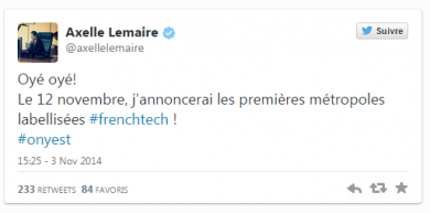 french tech twet a lemaire