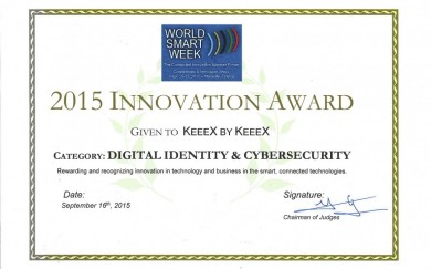 KEEEX world-smart-week-award-e-identity-2015-09-24